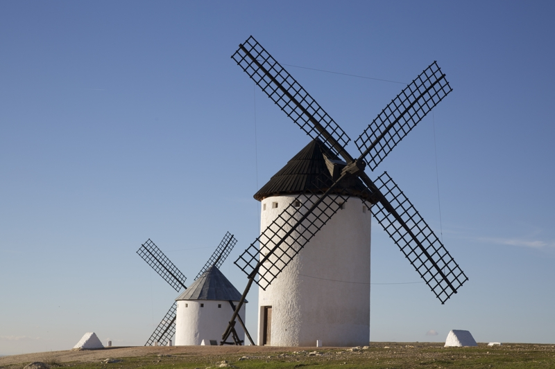 Don Quixote windmills in Spain
